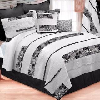 Donna Sharp Windsor Stripe Quilt Set - Black/White