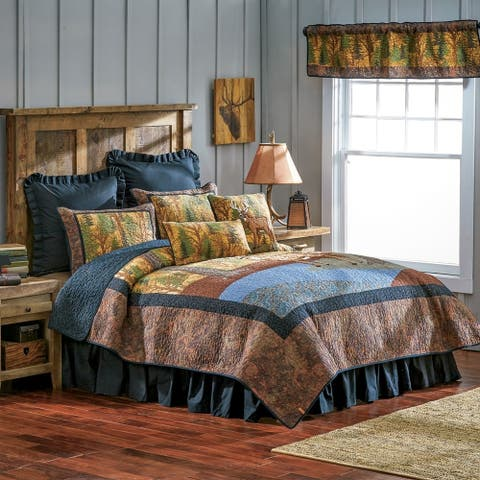 Donna Sharp Deer Brook Quilted Bedding - Brown/Green/Blue