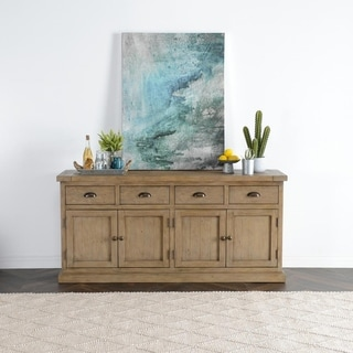 Kasey Reclaimed Pine 4 Drawer 4 Door Sideboard by Kosas Home