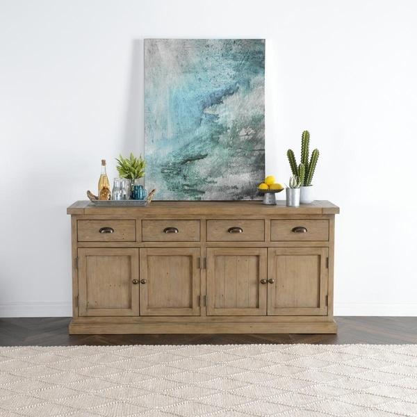 Kasey Reclaimed Pine 4 Drawer 4 Door Sideboard by Kosas Home