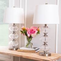 Abbyson Malaga Glass Orb 25-inch Table Lamp (Set of 2)
