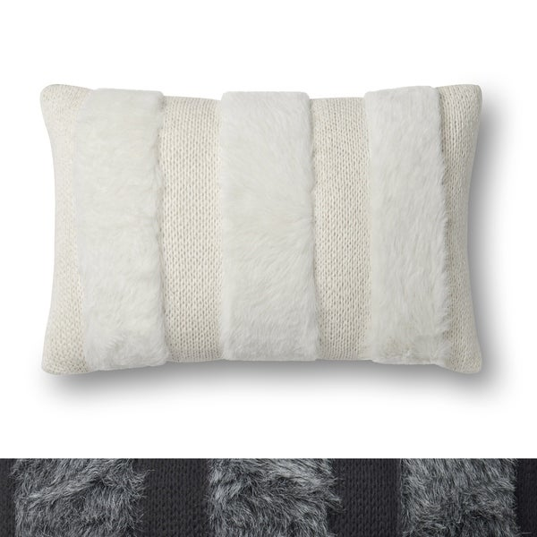 Shop Modern Fauxfur Textured Stripe 40 X 40 Pillow Cover On Sale Awesome 13x21 Pillow Insert