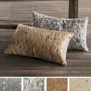 Faux-rawhide Glam Metallic Accent 13 x 21 Pillow Cover