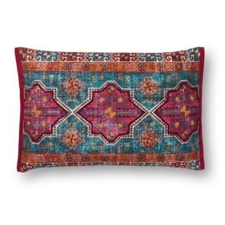 Boho Fuchsia/ Teal Moroccan Cotton 13 x 21 Pillow Cover