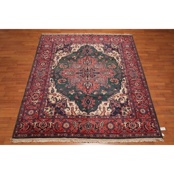 Hand Knotted Persian Wool Area Rug 5 10: Shop Hand Knotted Indo-Heriz Wool Persian Area Rug (8'2