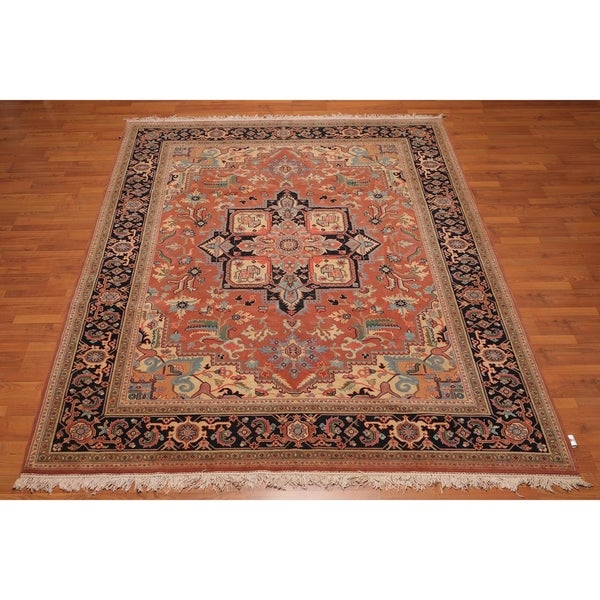 Hand Knotted Persian Wool Area Rug 5 10: Shop Heriz Master Quality Hand Knotted Wool Persian Area