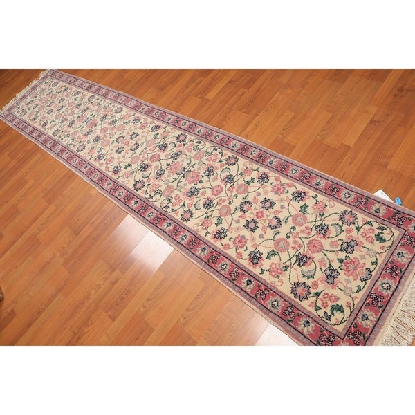 Shop Ecarpetgallery Hand Knotted Persian Kashan Red Wool: Shop Romanian Kashan Runner Hand Knotted Wool Persian Rug