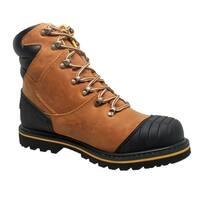 """Men's 7"""" Steel Toe Work Boot Light Brown"""