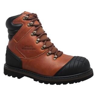 """Men's 7"""" Steel Toe Work Boot Reddish Brown"""