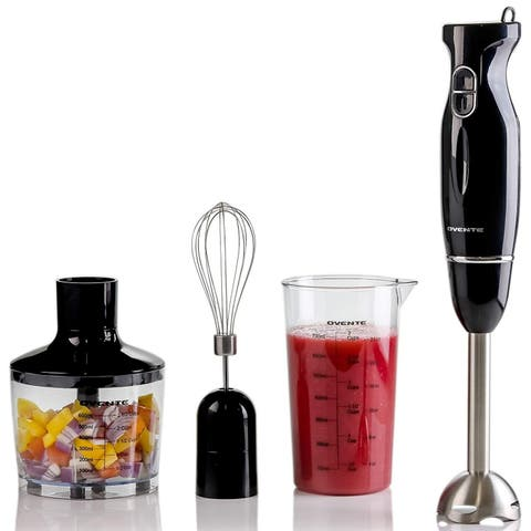 Ovente HS565 Multi-Purpose Immersion Hand Blender Set 300 Watts