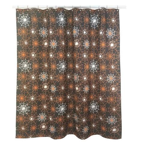 Spider Web Glow Shower Curtain
