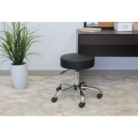 Boss Caressoft Chrome-finished Adjustable Upholstered Medical Stool