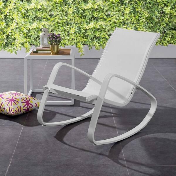 Admirable Shop Traveler Rocking Outdoor Patio Mesh Sling Lounge Chair Uwap Interior Chair Design Uwaporg