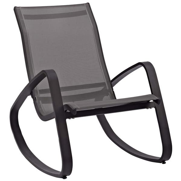 Pleasing Shop Traveler Rocking Outdoor Patio Mesh Sling Lounge Chair Uwap Interior Chair Design Uwaporg