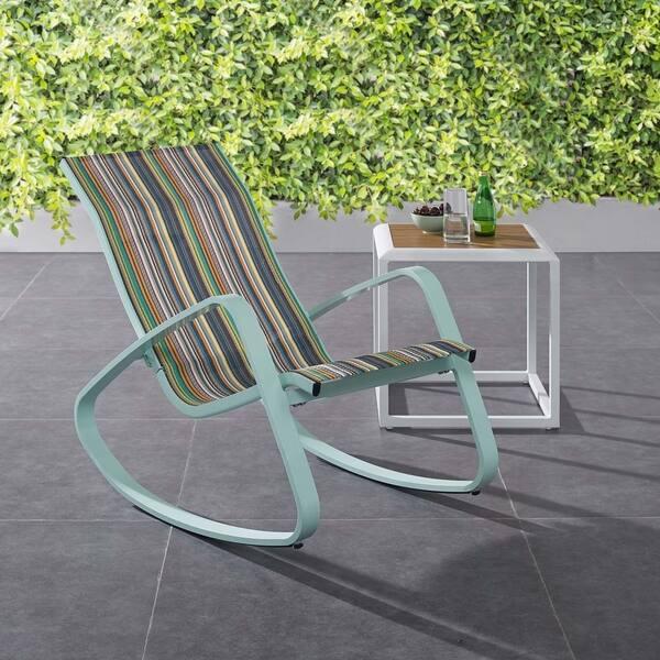 Stupendous Shop Traveler Rocking Outdoor Patio Mesh Sling Lounge Chair Uwap Interior Chair Design Uwaporg