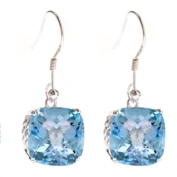b3a2f167d Shop Sterling Silver With Natural Sky Blue Topaz Dangling Earring - On Sale  - Free Shipping Today - Overstock - 23534028