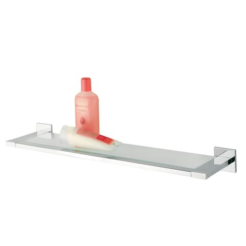 Tiger Glass Vanity Shelf Items Polished Stainless Steel