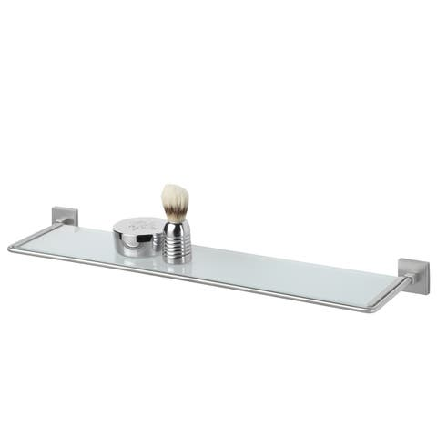 Tiger Glass Vanity Shelf Melbourne Brushed Stainless Steel - N/A
