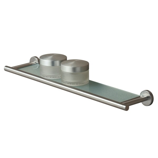 Tiger Glass Vanity Shelf Boston Brushed Stainless Steel