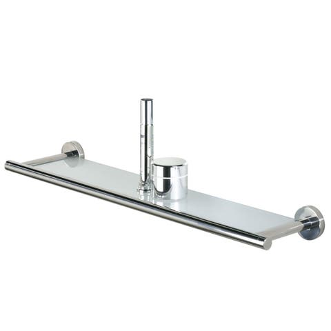 Tiger Glass Vanity Shelf Boston Polished Stainless Steel