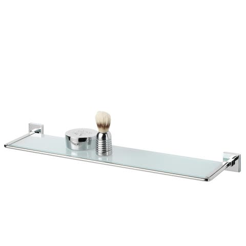 Tiger Glass Vanity Shelf Melbourne Polished Stainless Steel