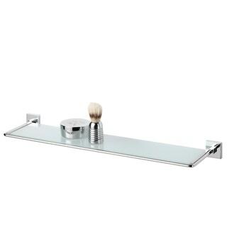 Tiger Glass Vanity Shelf  Melbourne Polished Stainless Steel