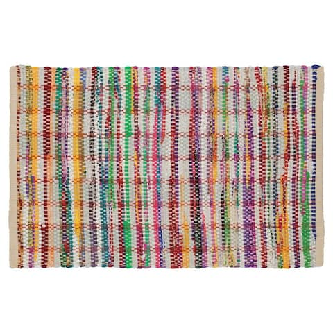 Sealskin Bathroom Rug 35x24 Inch Jaipur Multicolor Cotton