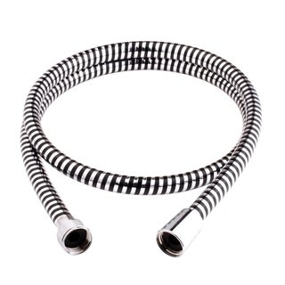 Delvac Shower Hose Flexhose Rubin Chrome And Black 80-Inch