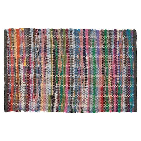 Sealskin Bathroom Rug 35x24 inch Madras Multicolor Cotton