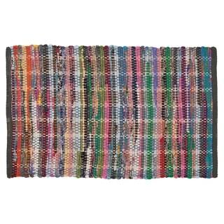 Sealskin Bathroom Rug 35x24 inch Madras Multicolor Cotton - 2' x 3'
