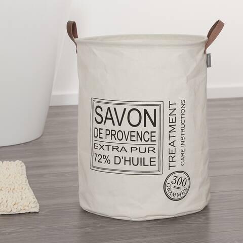 Sealskin Laundry Bag 16x20 Inch Savon De Provence Off-White Fabric