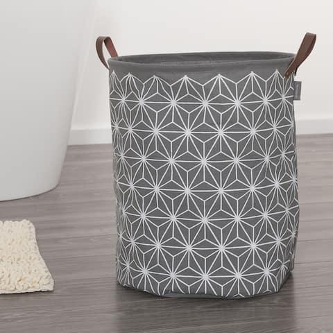 Sealskin Laundry Bag 16x20 Inch Triangles Gray Fabric