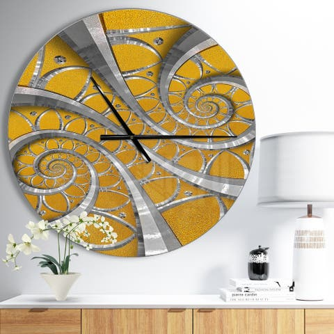 Designart 'Time Spiral in Antique Style' Oversized Contemporary Wall CLock