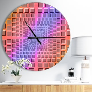 Designart 'Abstract Optical Illusion' Oversized Contemporary Wall CLock