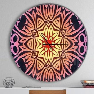 Designart 'Abstract Geometric Flower' Oversized Contemporary Wall CLock