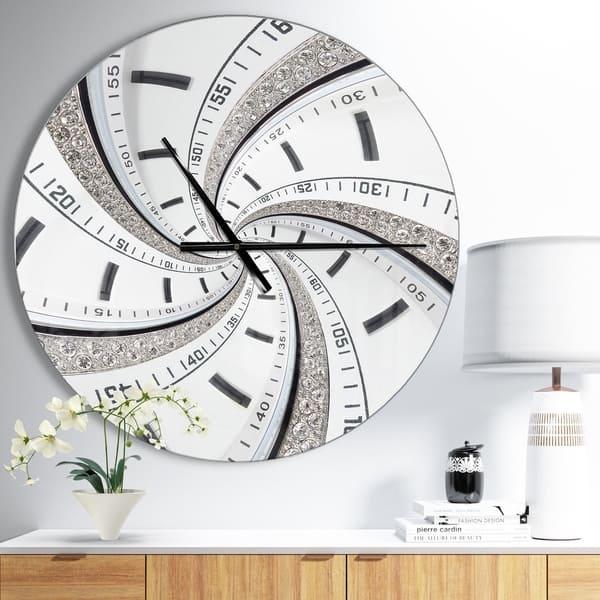 Designart Swirled Time Vortex Oversized Contemporary Wall Clock On Sale Overstock 23534633