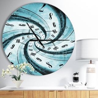 Designart 'Time Vortex Spiral' Oversized Contemporary Wall CLock