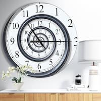 Designart 'Time Spiral Analog Wall' Oversized Contemporary Wall CLock