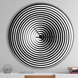 Designart 'Black and White Optical Illusion' Oversized Contemporary Wall CLock