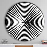 Designart 'Black and White Optical Illusion' Oversized Contemporary Wall CLock