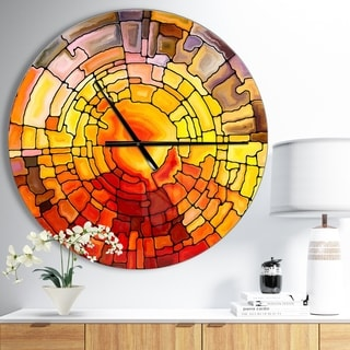 Designart 'Return of Stained Glass' Oversized Modern Wall CLock