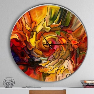 Designart 'Illusions of Stained Glass' Oversized Modern Wall CLock