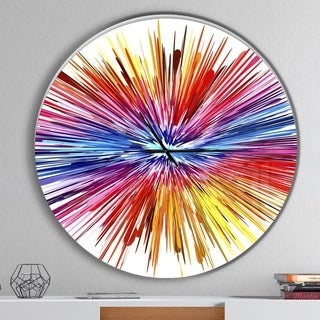 Designart 'Color Explosion' Oversized Modern Wall CLock