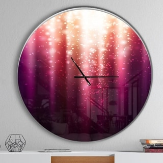 Designart 'Purple with Magic Light' Oversized Modern Wall CLock