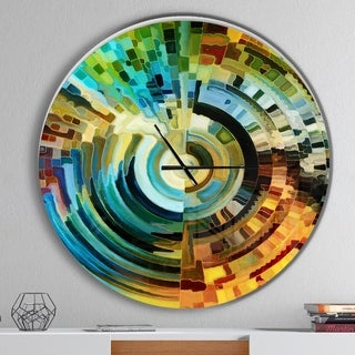 Designart 'Paths of Stained Glass' Oversized Modern Wall CLock