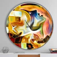 Designart 'Way of Inner Paint' Oversized Modern Metal Clock