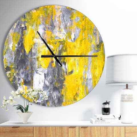 Buy Yellow Design Art Clocks Online At Overstock Our Best Decorative Accessories Deals