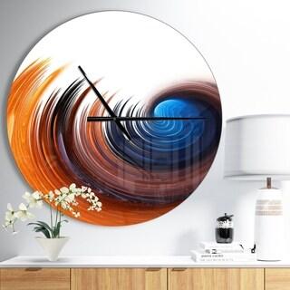 Designart 'Elegant Spiral Design' Oversized Modern Wall CLock