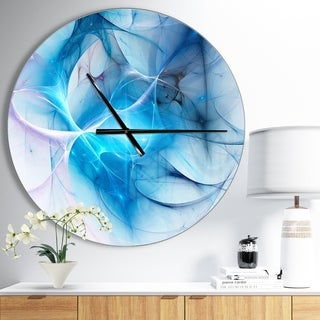 Designart 'Blue Nebula Star' Oversized Modern Wall CLock