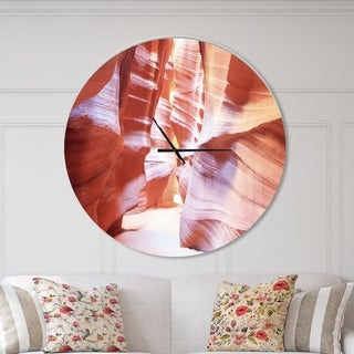 Designart 'Panoramic View Antelope Canyon' Oversized Modern Wall CLock